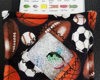 I Spy Bag - Mini with SEWN Word List and Detachable PICTURE LIST- All Sport