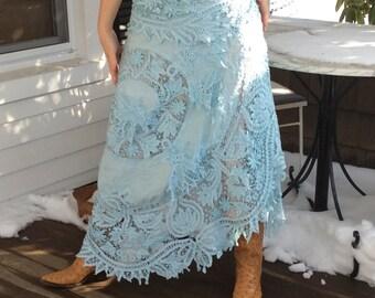 Bohemian Fairy Lace Long Skirt