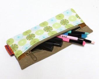 Canvas Makeup bag, Zipper Pouch, Pencil Pouch, Travel Pouch, Cosmetic Bag, Sunglasses Case handmade by EllaOsix