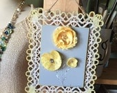 Wall hangings, french, home and living, home decor, shabby chic, art, FREE SHIPPING
