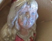 Vintage Rare Antique Victorian Lady Bust Christmas Ornament, Ships Worldwide
