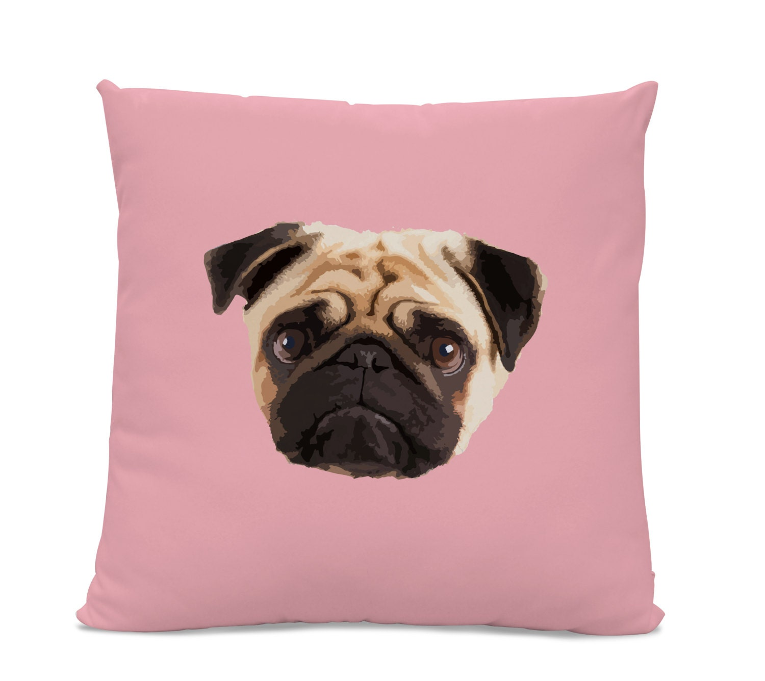 Pug Face Pillow Pug Home Decor Living Room Dog Pillow Dog