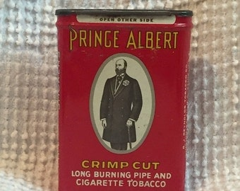 Vintage Prince Albert Tobacco Tin - Perfect Dad or Guy Gift or Man Cave Decor