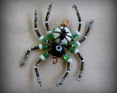 Lampwork  Glass Spider Suncatcher Ornament