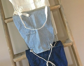 Whistle While You Work... Three Vintage Work Aprons Denim Ticking and Canvas Union Made Carters