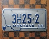1988 Montana License Plate - Vintage Plate - FREE SHIPPING - Big Sky Country