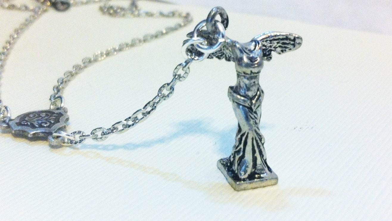winged victory lariat necklace jewelry winged