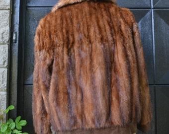 vintage mink  jacket -vintage fur bomber jacket