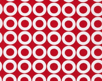 Spot On fabric, Red fabric, Polka Dot fabric, Robert Kaufman and Fabric Shoppe- Donuts in Red- Choose your cut