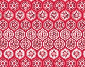SALE Fabric, Christmas Fabric, Red fabric, Merry Matryoshka Fabric, by Riley Blake - Matryoshka Ogee in Red, Choose the Cut