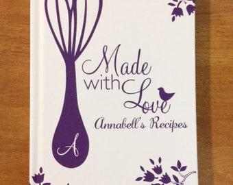 bridal shower recipe book custom recipe book christmas gift idea