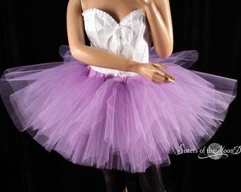 Light Purple tutu skirt puffy three layer petticoat dance costume fairytail race petticoat wedding -You Choose Size - Sisters of the Moon