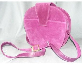 Vintage 1980's Bruno Magli Purple Suede Handbag