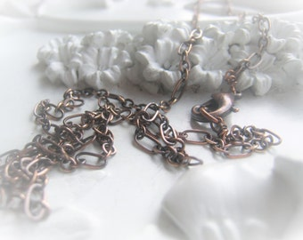 Copper Chain Necklace Oxidized Copper Necklace Antique Copper Chain Necklace Item No. 3667 4761
