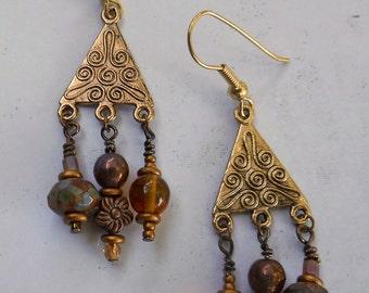 Golden Persia earrings