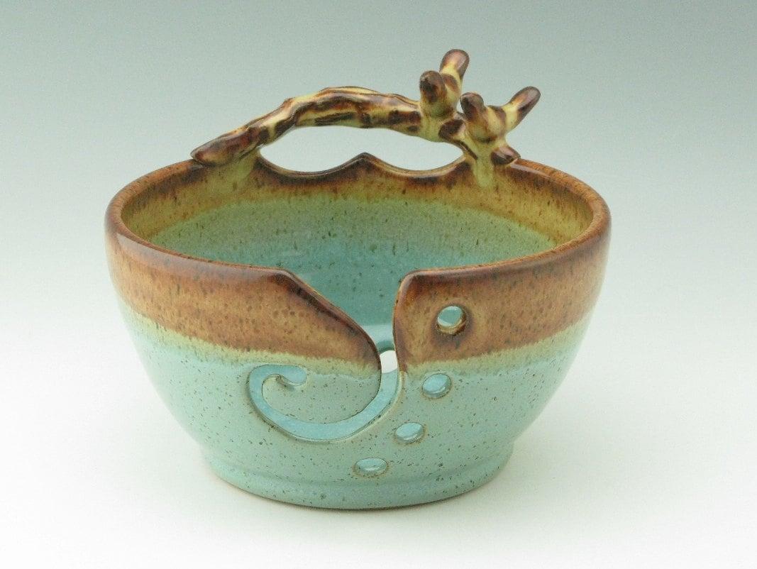 Pottery Yarn Bowl Ceramic Knitting Bowl for Multiple Color