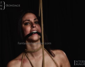 Vinyl & Leather Bit Gag With Rings BDSM  (GBH109)