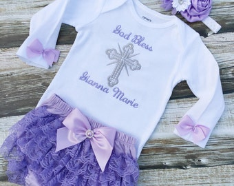 Christening Outfit - Baby Girl Baptism Outfit - Baby Dedication Outfit - Baby Clothing