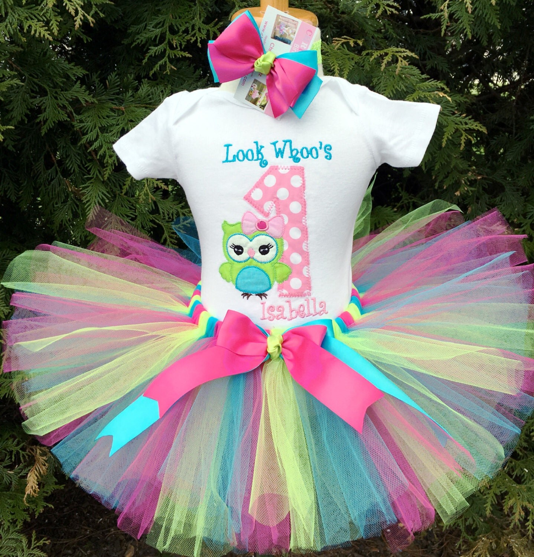 Owl 1st Birthday Outfit Baby Girl Owl Tutu Cake Smash