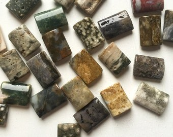 Ocean Jasper Flat Rectangle Beads