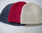 Crochet Knit Baby Boy Hat, Newborn Hat, Hospital, Baby Shower Hat, Baby Boy Gift, Baby Head Warmer, Newborn - Toddler, Pick Color & Size!