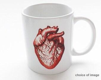 anatomy coffee Mug human doctor office novelty gift male nurse skull brain anatomical heart science medical student cardiology graduation