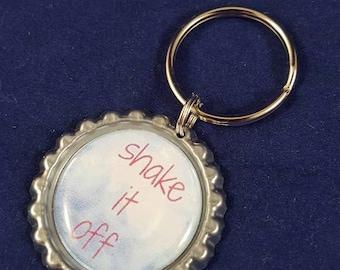 ONE 'Shake It Off' Bottle Cap Charm Keychain