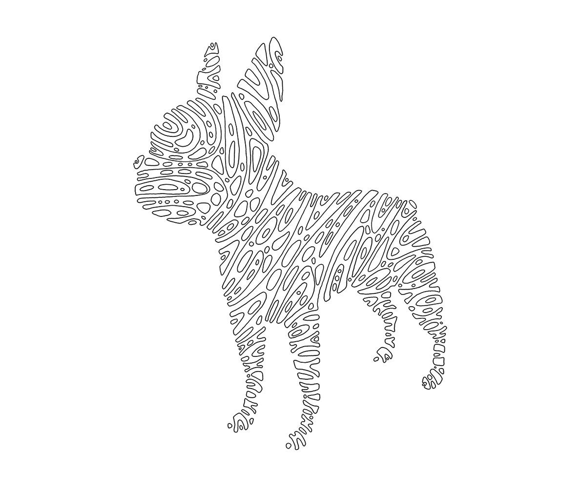 boston terrier printable dog coloring page geometric Barbie Coloring Pages Printable  Boston Terrier Coloring Pages Printable