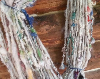Handspun yarn, art yarn, bulky, from the flock, chunky yarn