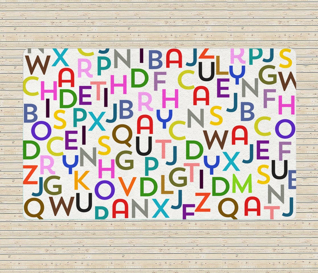 Kids Area Rugs Letters Rug Alphabet Rug Educational By