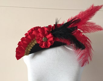 Custom Pirate Hat Any Color Felt Base Renaissance Tricorn Hat Made to Order or Gift Certificate