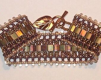 Handmade seed bead bracelet - Cleopatra
