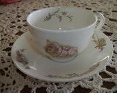 Mrs. Tittlemouse Cup & Saucer, Royal Albert Beatrix Potter Collectible Tea Cup