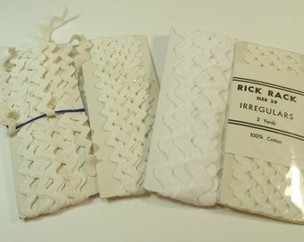 Vintage White Ric Rac Ribbon And Trim Collection