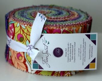 "SALE SLOW & STEADY Design Jelly Roll 2.5"" strips fabric by Tula Pink - Freespirit Fabrics"