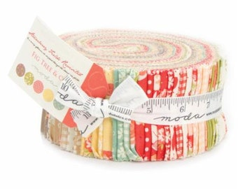 SALE It's here! Strawberry Fields Revisited Jelly Roll Strips - Fig Tree Quilts Moda Fabric
