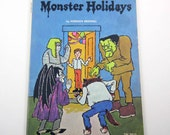 Monster Holidays Vintage 1970s Children's Scholastic Book by Norman Bridwell