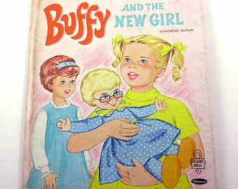 Buffy and the New Girl Vintage 1960s Family Affair Whitman Children's Book by Joan Gladys Baker Bond Illustrated by Nathalee Mode