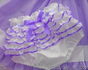 Adult Baby Sissy Littles ~ PRETTY PURPLE Diaper Cover ~ Panty ~ Dress Up ~ Binkies n Bows