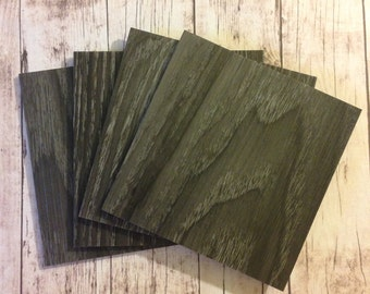 NEW- 4 Inch by 4 Inch Black Oak Coaster Tile Blanks- Set of 8-  The back is finished to protect against scratches or moisture