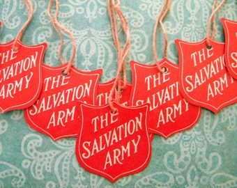 10 Vintage Salvation Army Hang Tags