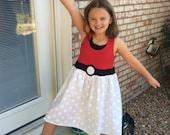Pokeball dress for girls Pokemon tank dress for girls