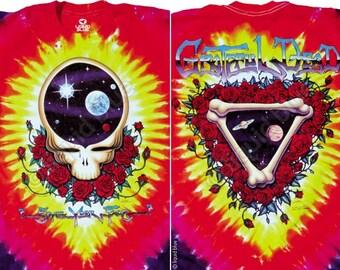 Grateful Dead Space Your Face Tie Dye Short  sleeve Shirt  Size  XL     SYF    Deadhead