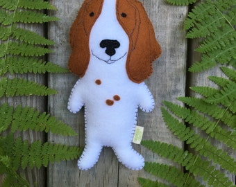 Felt Stuffed Basset Hound Dog, Basset Hound toy, Stuffed Dog, Felt Dog, Stuffed Dog