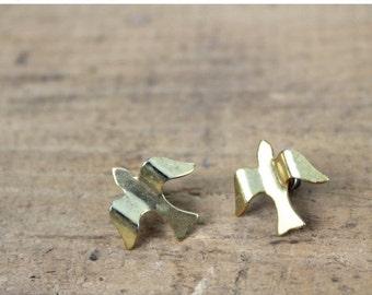 35% OFF MOVING SALE Bird Earrings • 80s Bird Earrings • Dove Earrings • Sparrow Earrings • Animal Earrings • Animal Jewelry • Vintage Earrin