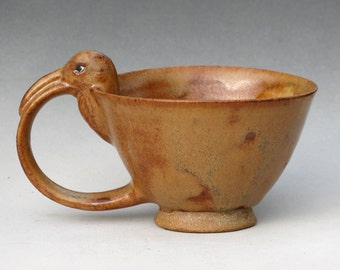 Curlew Teacup with Haystack Glaze--1 of 4