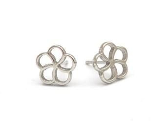 Flower Stainless Steel Earring Post Finding (E33250)