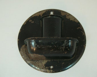 Vintage Match Holder Black Metal Match Holder Vintage Fireplace Accessory Vintage Kitchen Decor Matchstick ContainerMatch Safe