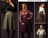 OOP Womens Pattern Simplicity 2758 Career Wear Sizes 12-14-16-18-20 Threads Collection Step by Step Sewing Boot skirts