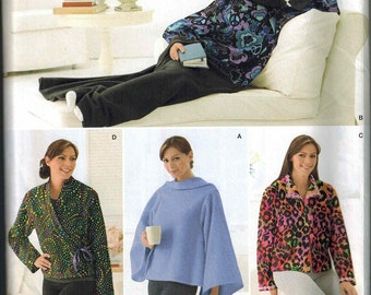 Simplicity 2271 Reverse Snuggie Blanket with Sleeves Sewing Pattern Sizes XS-S-M-L-XL EASY to sew Lounge Bed Blanket Jacket